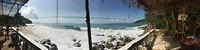 Zicht op het strand