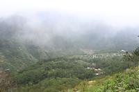 Misty view vanaf Mt. Kiltepan