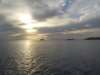 Laatste zonsondergang in Whitsundays
