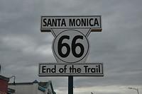 Einde (of begin) Route 66