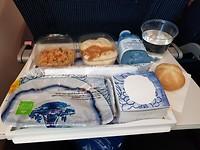 Mijn eerste vliegtuigmaaltijd