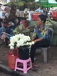 Bloemen en offers markt