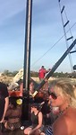Van de boot slingeren bij de sunset sail
