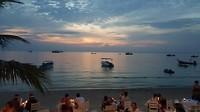 Dinner with a sunset @ koh tao beach