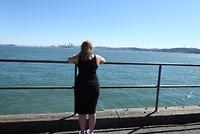 Uitzicht op downtown, andere kant van de Golden Gate