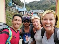 Met onze gids en sherpa