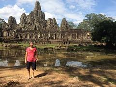 Fotostop bij de Bayon tempel
