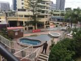 mini bubbelbad vanuit het balkon