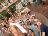 feest in bubbelbad
