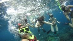 onderwater groepsfoto