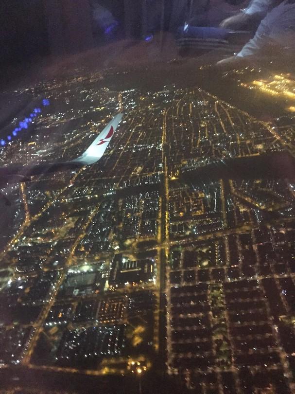 Bogota vanuit het vliegtuig