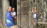 Truukje in Angkor