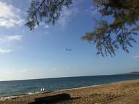strand Noord Phuket, veel overvliegend verkeer