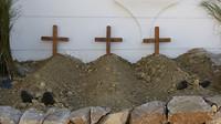 de daders begraven (tijdens fiesta)