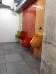 Urinoirs in MOCAA, de damestoiletten zijn ook prachtig, die staan op de SD kaart..