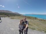 Op de achtergrond Mount Cook