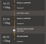 Vlucht Kuala Lumpur ➡️ Melbourne