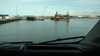 Ferry, aankomst Denemarken, Hirtshals