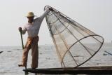 Inle Lake - Vissen op de traditionele manier