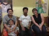 Inle Lake - Sarah op de foto met familie van Moe Tu