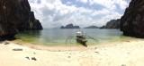 Even aanmeren op een prive-strandje