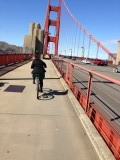 Fietsen over de Golden Gate Bridge in San Francisco