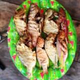 gegrilde vis klaargemaakt door de kuna indianen (zelfs Erwin heeft ervan gegeten)