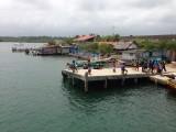 klein dorp op een van de san blas eilanden