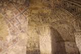 Schilderingen in een graf in tierradentro