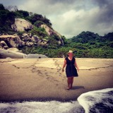 Waar de jungle overgaat in strand in Tayrona national park