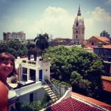Uitzicht vanaf het dak van centro catalina, onze spaanse school