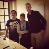 Met Diego, onze Spaanse leraar voor een week