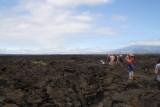 Wandeling op eindeloze lava massa