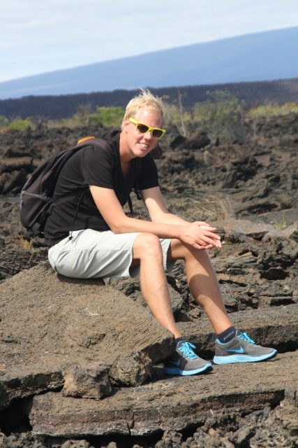 Hier werd Erwin door de groep benoemd tot blue footed lava dutchie with yellow eye rings :)