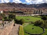 Uitzicht vanaf het centrum van cusco, wat ooit het centrum van het oude inkarijk was