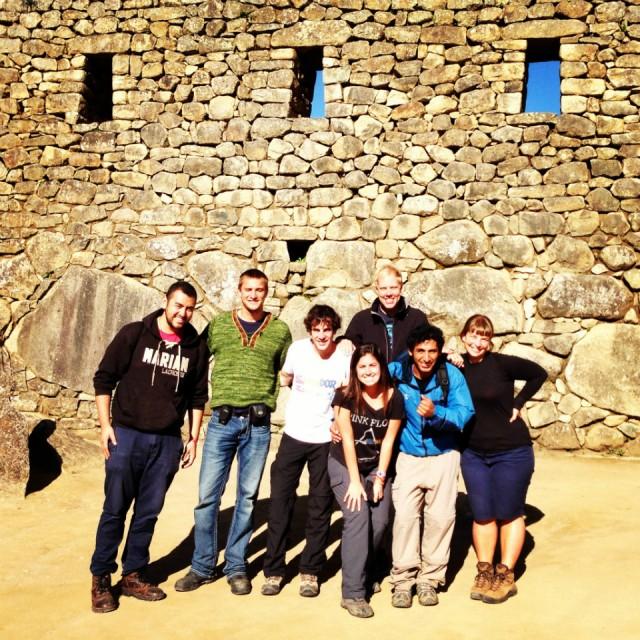 Ons groepje in Machu Picchu