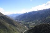 Uitzicht op de fiets, en de weg die nog voor ons lag :)
