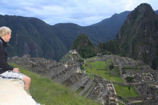 Het machtige uitzicht over Machu Picchu