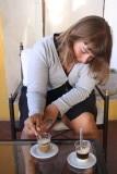 Café bonbon, espresso met gecondenseerde melk, net een bonbon :)
