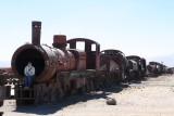 Een oude trein, achter gelaten om nooit meer te gebruiken