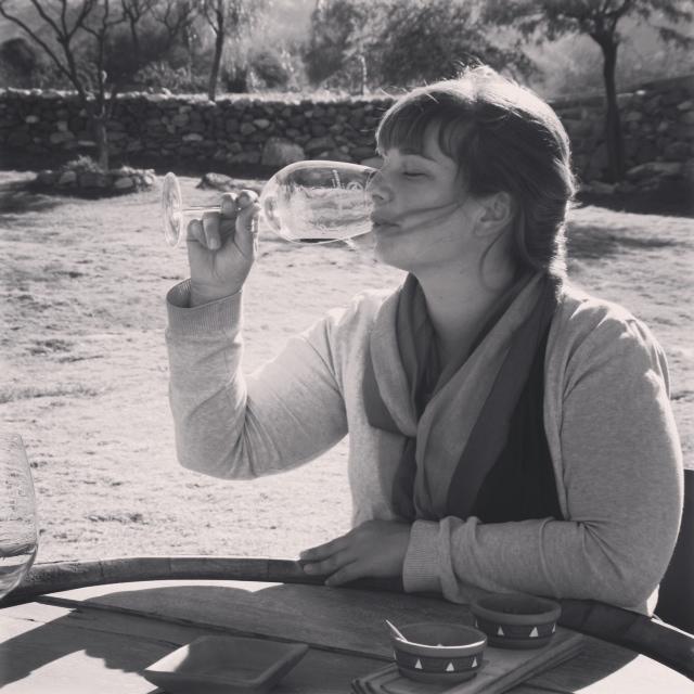 Wijn proeven. Dit was het 6e glas ofzo ;)