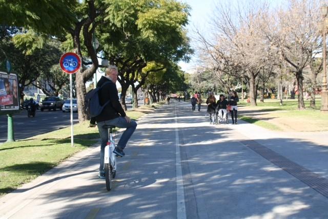 In Buenos Aires op de fiets :)