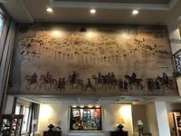 De Camiño de Compostela op de muur in het hotel