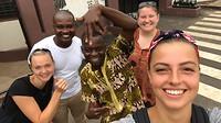 Met onze Ghanese vrienden Joe en Joe