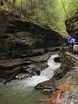 Meerdere watervalletjes