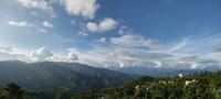 Uitzicht vanaf ons hotelbalkon na lange wandeling..