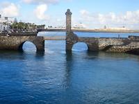 Arrecife, de hoofdstad met cruiseschip