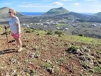 hoogste punt met zicht op gans Lanzarote, overal zee