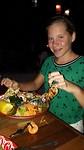 Madée en haar mega garnalen