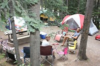camperen in het half-wild